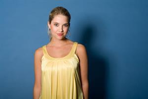 Ashley Benson yellow dress photoshoot