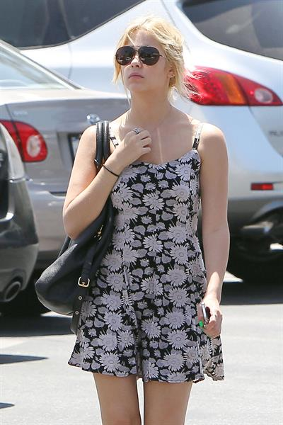 Ashley Benson arriving at Westfield Mall in Los Angeles on May 15, 2012