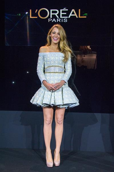 Blake Lively Announcement Of The New Egerie L'Oreal Paris: Blake Lively, Oct. 29, 2013