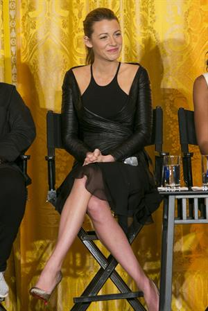 Blake Lively Michelle Obama Hosts Workshop On Careers In Film -- Washington D.C., Nov. 8, 2013