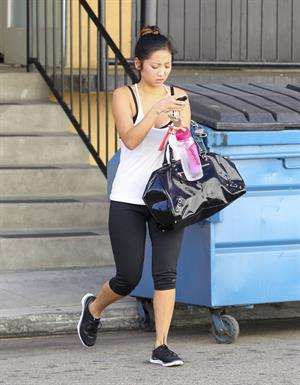 Brenda Song leaving a gym in LA 10/17/12