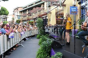 Bridgit Mendler performing at Studio Disney 365 10/23/12