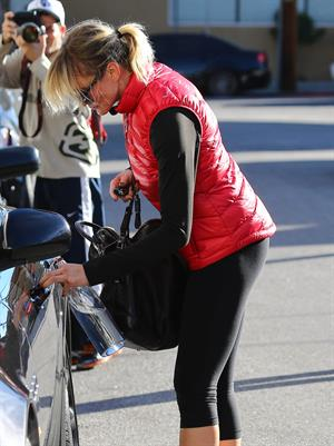 Cameron Diaz leaving the gym in Los Angeles 1/18/13