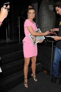 Carmen Electra -  Leaving Katsuya Restaurant in LA 16.08.12