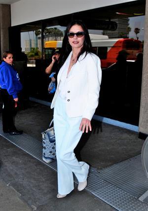 Catherine Zeta Jones arrives at LAX, LA - June 1, 2012