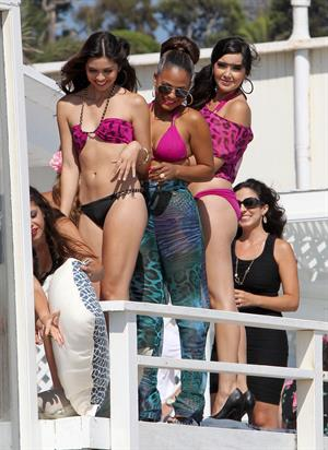 Christina Milian - Havana Nights Collection event in Malibu (24.08.2012)