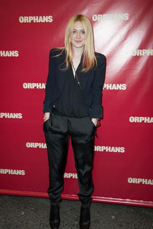 Dakota Fanning  Orphans  Broadway opening night, New York (4/18/13)