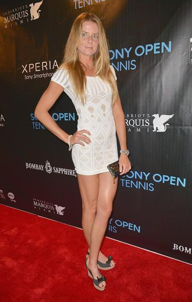 Daniela Hantuchova arrives at Sony Open Player Party 2013 at JW Marriott Marquis in Miami - March 19, 2013