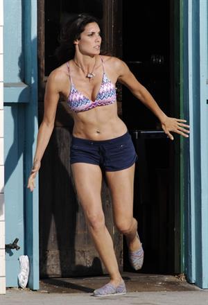Daniela Ruah - on the set of NCIS Los Angeles in Venice Beach Sept 18, 2012