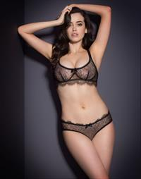Sarah Stephens in lingerie