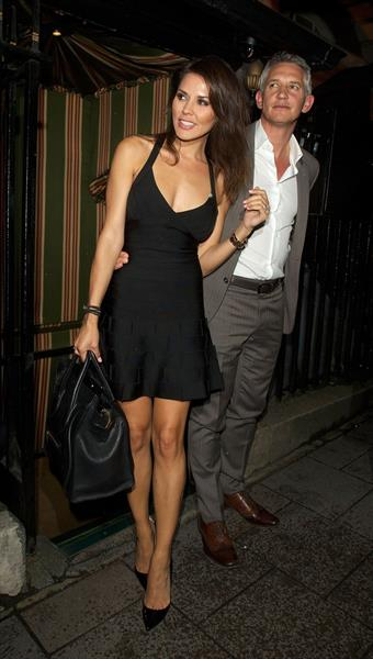 Danielle Lineker leaving Annabel's private members club October 2, 2012