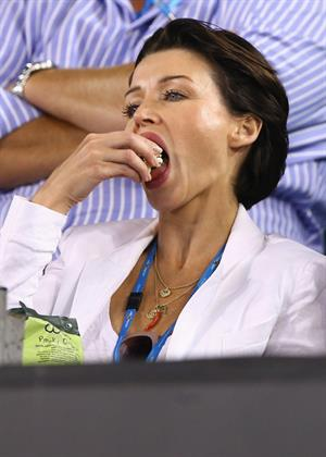 Dannii Minogue During day eight of the Australian Open Melbourne Park on January 21, 2013