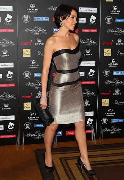 Dannii Minogue million dollar lunch fundraiser in Melbourne on July 29, 2011