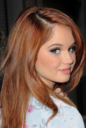 Debby Ryan arriving for a magazine interview in NY 3/18/13
