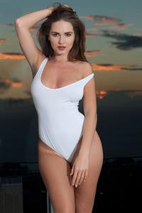 Sabine Jemeljanova in a bikini