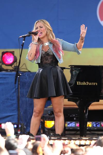 Demi Lovato -  Good Morning America  set in New York  -  6 July, 2012
