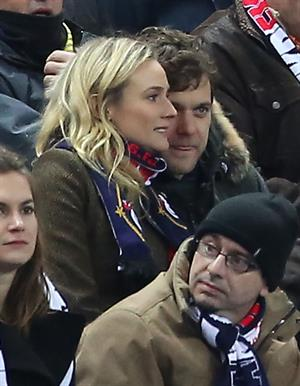Diane Kruger France vs.Germany friendly soccer game in Paris, Frannce on February 6, 2013