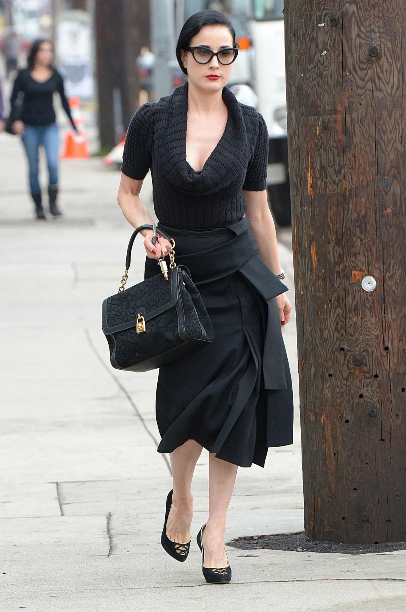 Dita von Teese Leaving Real Food Daily in West Hollywood (November 15, 2012)