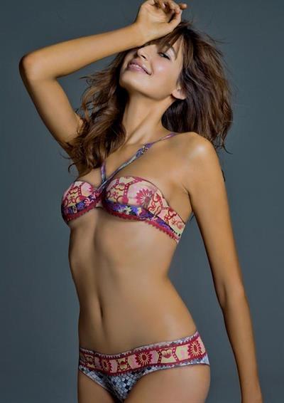 Kenza Fourati in a bikini in body paint