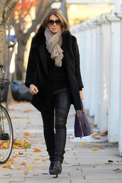 Elizabeth Hurley walking in London - November 14, 2012