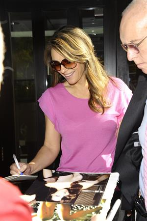 Elizabeth Hurley Fox Studios, New York - Oct 1, 2012