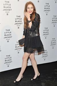 Elizabeth Olsen Chanel The Little Black Jacket - Karl Lagerfeld Photo Ehibition Dinner Party Milan, April 4, 2013