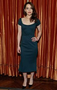Emilia Clarke 'Breakfast At Tiffany's' Broadway press preview in NYC 2/27/13
