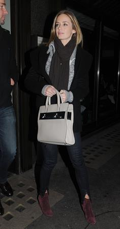 Emily Blunt Dinner at Cecconi's in London, Feb 9, 2013