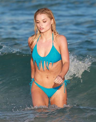 Emma Rigby - filming 'Plastic' on Miami Beach 01/16/13
