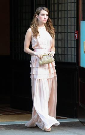 Emma Roberts Pre-Met Ball special screening of 'The Great Gatsby' in NYC 5/5/13