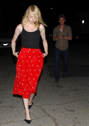Emma Stone Out To Dinner - August 20, 2012