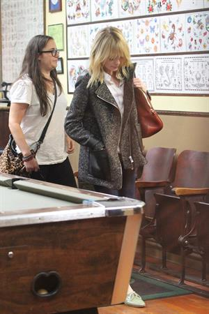 Emma Stone Stopped at Shamrock Tattoo - October 17, 2012