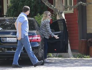Emma Stone at a film studio office on October 10, 2012