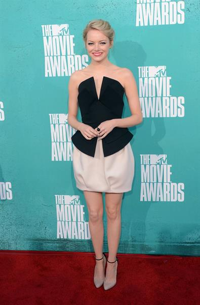 Emma Stone - MTV Movie Awards at Universal Studios, Arrivals - June 3, 2012
