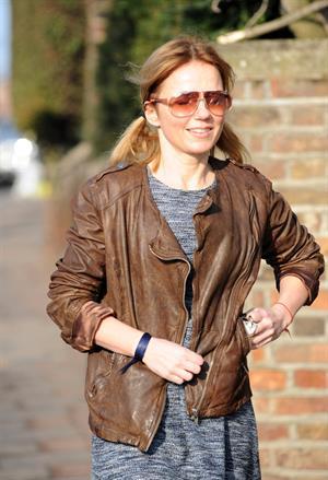 Geri Halliwell on scool run in London on March 5, 2013