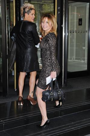 Geri Halliwell arrives at the Ivor Novello Awards in London on May 16, 2013