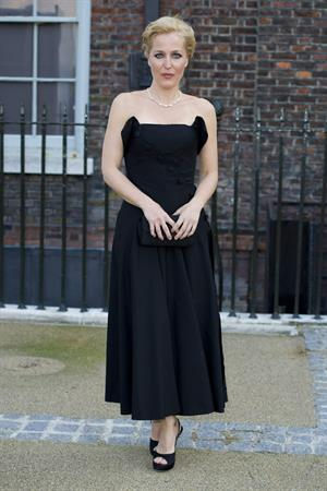Gillian Anderson Fashion Rules Exhibition launch party in London July 4, 2013