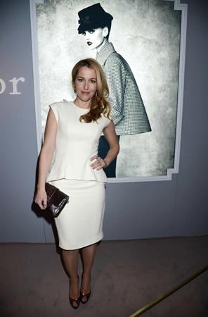 Gillian Anderson Dior at Harrods dinner in London 3/15/13