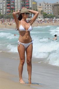 Amy Childs in a bikini