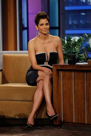 Halle Berry on The Tonight Sow with Jay Leno in Burbank on March 11, 2013