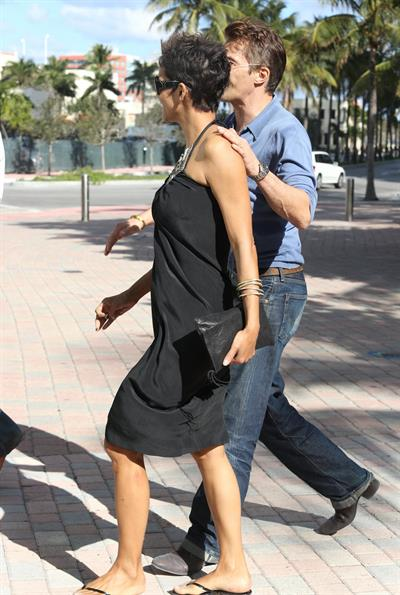 Halle Berry out for a stroll at South Beach Miami on February 2, 2013
