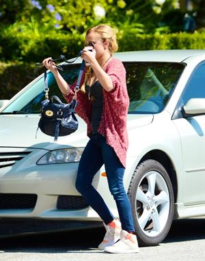 Hayden Panettiere heads to a friends house in West Hollywood on May 30, 2013