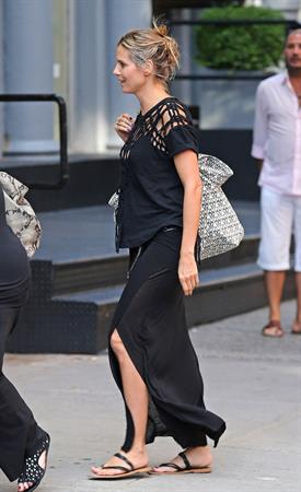 Heidi Klum - Heading to Cipriani in NYC - August 12, 2012