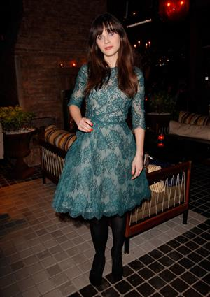 Zooey Deschanel Celebrates Glamour Cover Girl in West Hollywood January 28, 2013