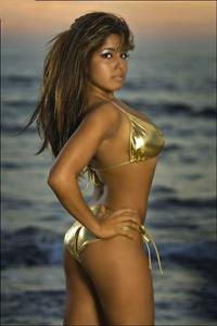 Erika Fernandez in a bikini