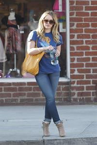 Hilary Duff out and about in Los Angeles 1/8/13