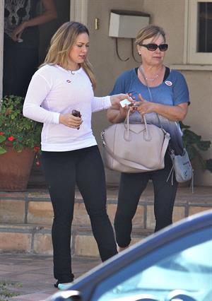 Hilary Duff voting in LA 11/6/12