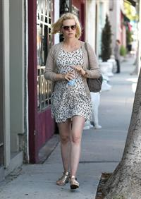 January Jones running errands on Melrose on June 14, 2011