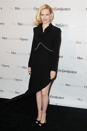 January Jones Metropolitan Opera Gala Premiere of Manon in New York on March 26, 2012