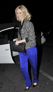 January Jones 33rd birthday at Fogo de Chao in Los Angeles on January 5, 2012